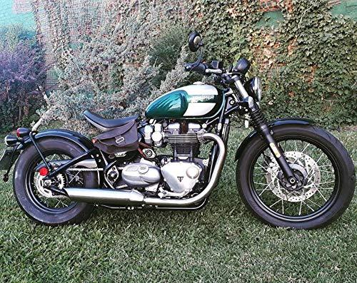 Ledertasche Satteltasche Seitentasche Motorrad Schokolade Dark Vintage Stil Rechte Seite Cafe Racer Limitierte Ausgabe
