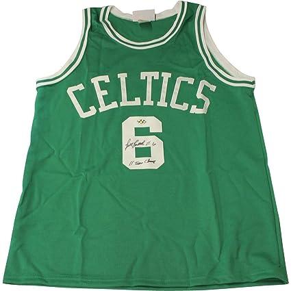 timeless design e3d3c 07b3b Bill Russell Autographed Signed Custom Green Celtics Jersey ...