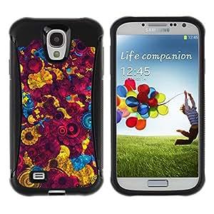 """Pulsar iFace Series Tpu silicona Carcasa Funda Case para Samsung Galaxy S4 IV I9500 , Fondo de pantalla colorida Pintura Diseño Arte"""""""
