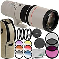 Canon EF 400mm f/5.6L USM Lens 8PC Accessory Bundle – Includes Manufacturer Accessories + 3PC Filter Kit (UV + CPL + FLD) + MORE – International Version (No Warranty)