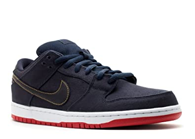 the latest c0c15 3d4c9 Nike Mens Dunk Low Premium SB Blue Denim Levis Obsidian Blue Gold-Red  Synthetic