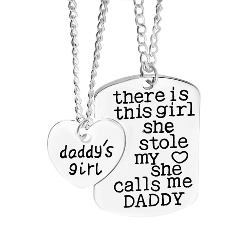Dolland DADDY'S GIRL Heart Necklace for Daughters | Daughter Gift From Father | Gifts From Dad | Jewelry Gifts