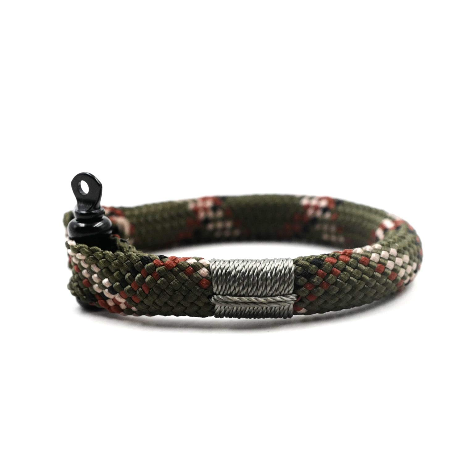 TTHER Nautical Rope Ladder - Camouflage Nautical Braided Bracelet Hand-Made Yachting Rope Military Paracord Bracelet Wristband W/D-Shackle BRT-N516 by TTHER