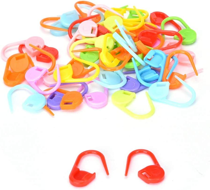 50pcs X in plastica bloccaggio ago Stitch Holders Marcatori
