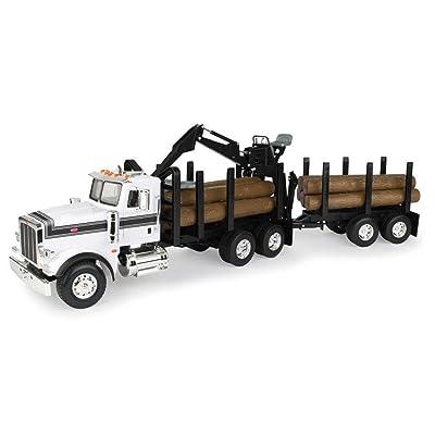 ERTL Big Farm Logging Truck with Pup Trailer & Logs: Toys & Games