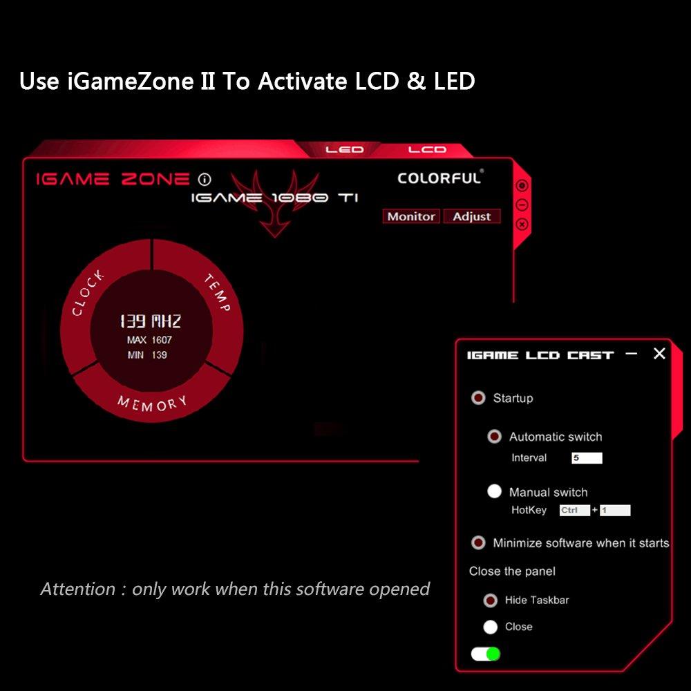 Amazon.com: KKmoon Colorful iGame GTX1080Ti Vulcan X OC Video Graphics Card GPU 1620-1733MHz 11G 352bit SLI VR Ready LCD Monitor: Electronics