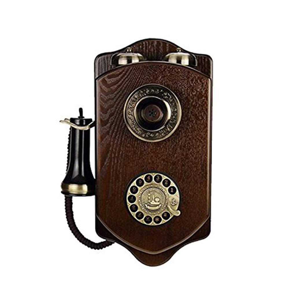 LKIHAH Teléfono Analógico con Cable En Un Elegante,De Madera ...