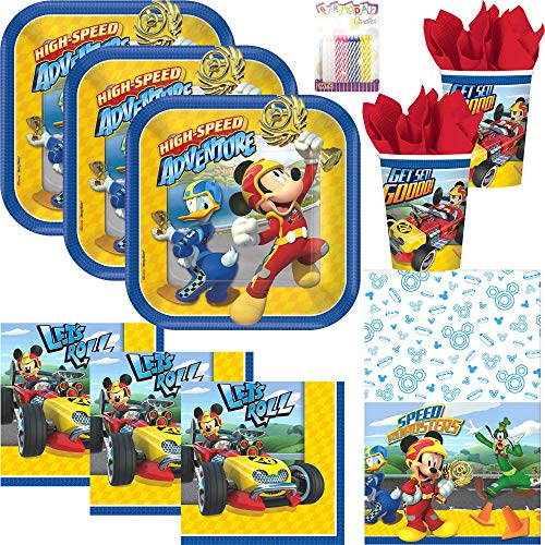 Disney Mickey Roadster Party Supplies Pack Serves 16:
