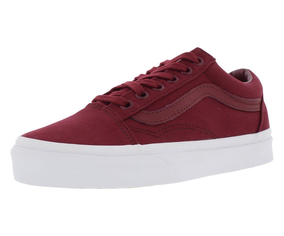 Vans Unisex Old Skool Classic Skate Shoes B076CWDT16 9 M US Women / 7.5 M US Men|Cabernet/White
