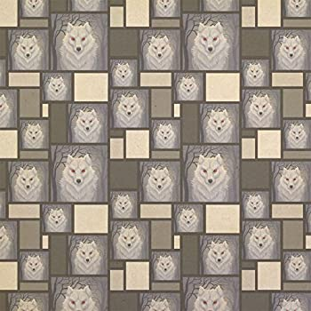 White Dire wolf Kraft Present Gift Wrap Wrapping Paper