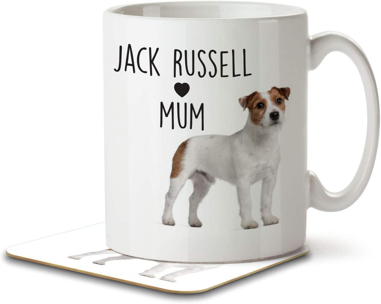 Jack Russell Dad Mug and Coaster by Inky Penguin