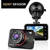 """SuperEye Dash Cam Telecamera per Auto Dash Cam per Auto Camera Car 1080P con Infrarossi Visione Notturna , 170 Gradi , Rilevazione di Movimento, Registrazione in Loop, WDR,G-Sensor e 2,7"""" Schermo LCD"""
