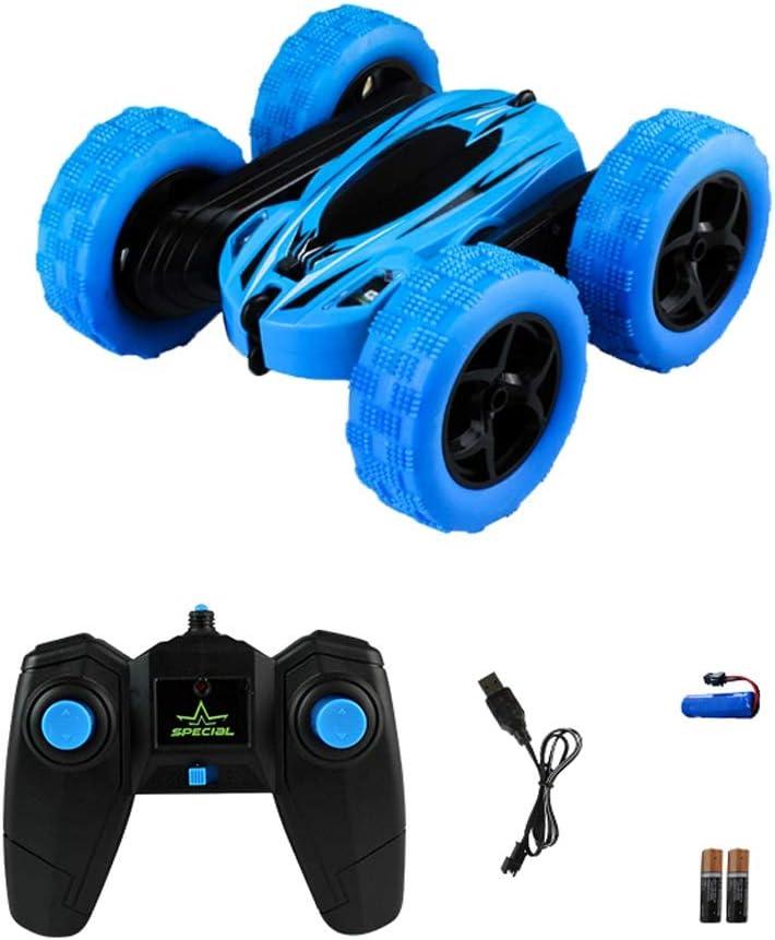 Lotee Control Remoto Toy Stunt Off-Road Car RC Stunt Car 360 Degree Flips 2.4GHz Stunt Cross Country Car Niños Niñas Niños Regalos Niños Juguete (Color : Azul, tamaño : 1 Battery Pack)