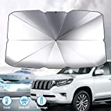 GOMMLE Foldable Car Windshield Sunshade Umbrella, Anti-UV and Sun Protection Reflector Umbrella for Car Truck SUV (Small…