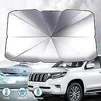 GOMMLE Foldable Car Windshield Sunshade Umbrella, Anti-UV and Sun Protection Reflector Umbrella for Car Truck SUV (Large…