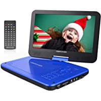 """DBPOWER 12"""" Portable DVD Player with 5-Hour Rechargeable Battery, 10"""" Swivel Display Screen, SD Card Slot and USB Port…"""