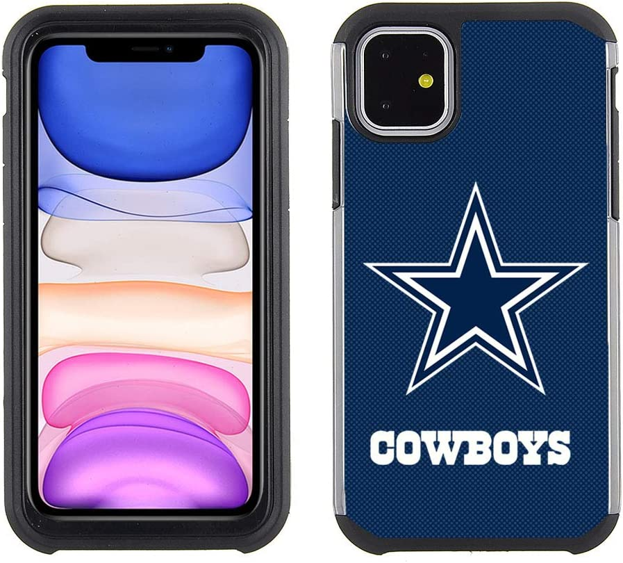 Prime Brands Group Cell Phone Case for Apple iPhone 11 - NFL Licensed Dallas Cowboys - Textured TeamColor, NFL Dallas Cowboys (NFL-TX1-IP11-COWB)