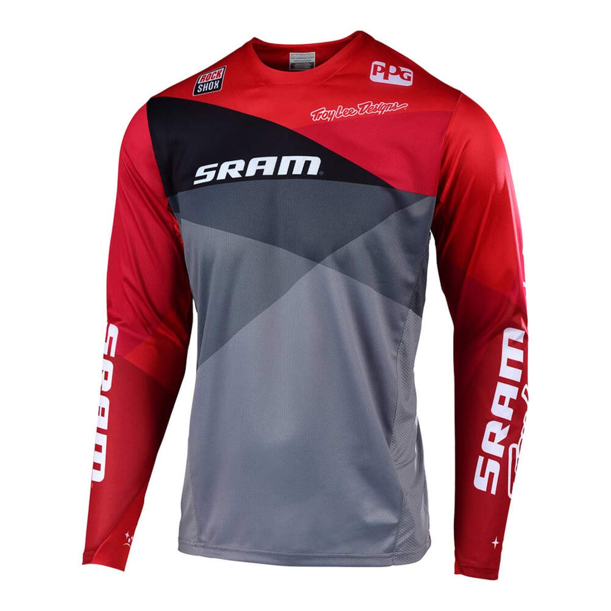 Troy Lee Designs Sprint Sram Jersey - Men's Jet Gray/Red, S