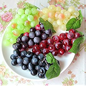 Chengsan Green Yellow Purple Black Artificial High Simulation Grapes, False Fruit Fake Grapes, Kitchen, Office and Photography Props (CS-FZSG02) 39