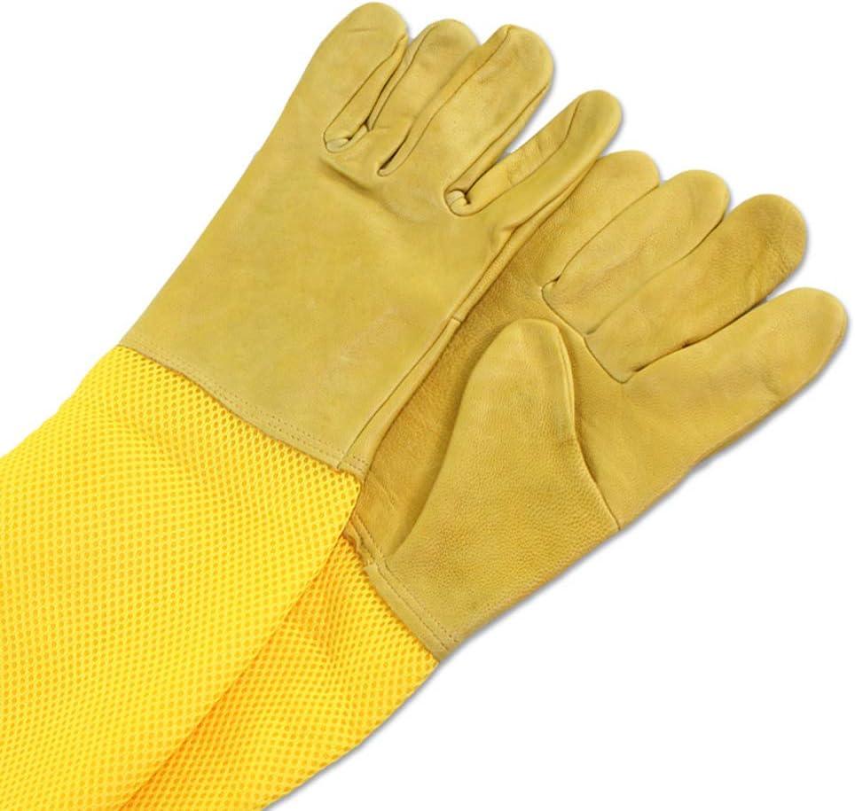 jpkoekw Gants de Protection apicole pour Apiculteur avec Manches Longues ventil/ées Respirant