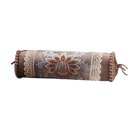 Cojín cilíndrico de lujo con relleno de almohada, estilo ...