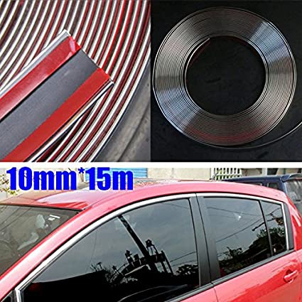 15m x 8mm Chrome Moulding Trim Strip Car Door Edge Decoration Guard Protector