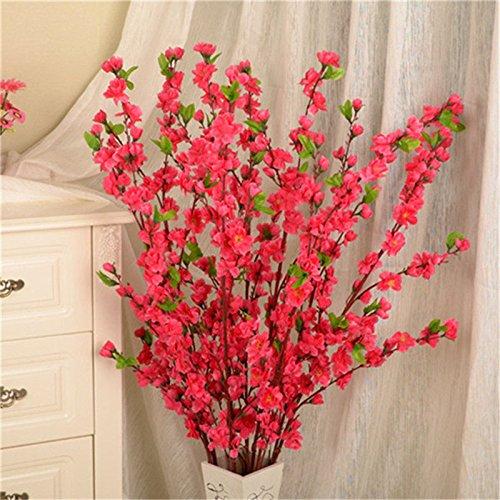 ADSRO 造花 人工ピーチの花 シルクの花 花の木の装飾 ブーケ DIY 花 アレンジメント アート 母の日 結婚式 自宅 オフィス パーティー レストラン 5個パック B07C5LWZXZ