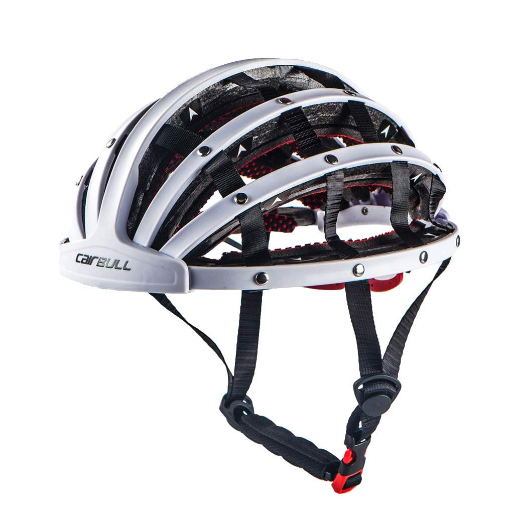 Specialized Foldable Bicycle Helmet Bike Folding Ultralight Unisex Cycling Helmets 56-62cm,Breathable Comfortable Bike Helmet, Helmet by Sunsee-home