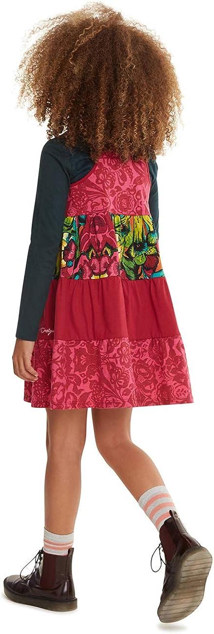Desigual Dress Ruibarbo Vestido para Ni/ñas