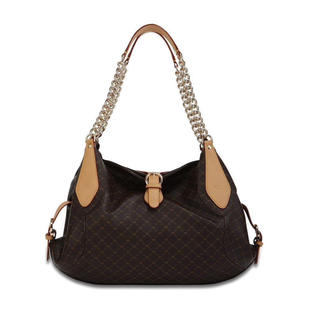 Brown Signature Buckle Carrier Handbag Color