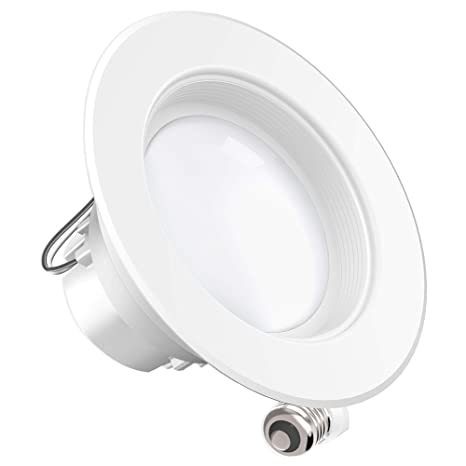 newest 1c819 2bbc3 Sunco Lighting 4 Inch LED Recessed Downlight, Baffle Trim, Dimmable,  11W=40W, 2700K Soft White, 660 LM, Damp Rated, Simple Retrofit Installation  - UL ...