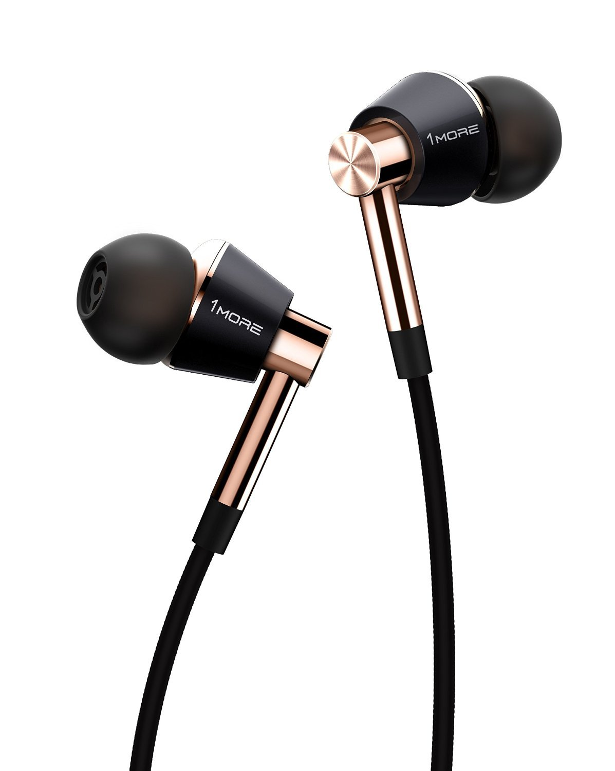 1MORE Triple Driver Lightning In-Ear Headphones (Earphones) In-built DAC, Apple MFi Certified ( All iPhone, iPad, iPod) with Microphone and Control Remote (Gold)