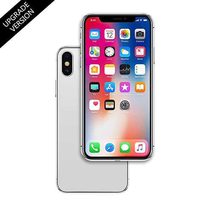 best authentic c4854 2a77c Metal Dummy Fake Phone Model for Apple iPhone X 10 5.8 inch Non-Working 1:1  Scale Toy Case (Silver, Black Screen)