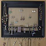 Jewelry Organizer Display Rack Holder Picture Frame- 19''x16''- Extra Large Wall Mounted