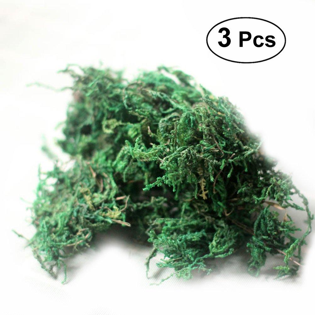 Winomo ogni confezione pesa 60 g muschio verde artificiale per decorare la casa il giardino e il patio