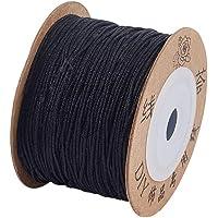 PH PandaHall Nylon Thread Bracelet Cord Beading String Thread, Nylon, Black-0.8mm, 0.8mm