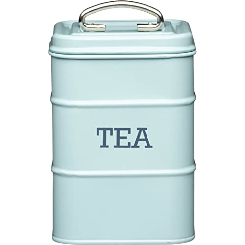 KitchenCraft-Living-Nostalgia-Duck-Egg-Blue-Tea-Canister,-11-x-17-cm