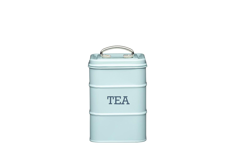 Kitchencraft Living Nostalgia Vintage Metal Tea Teabag Storage Tin In Blue