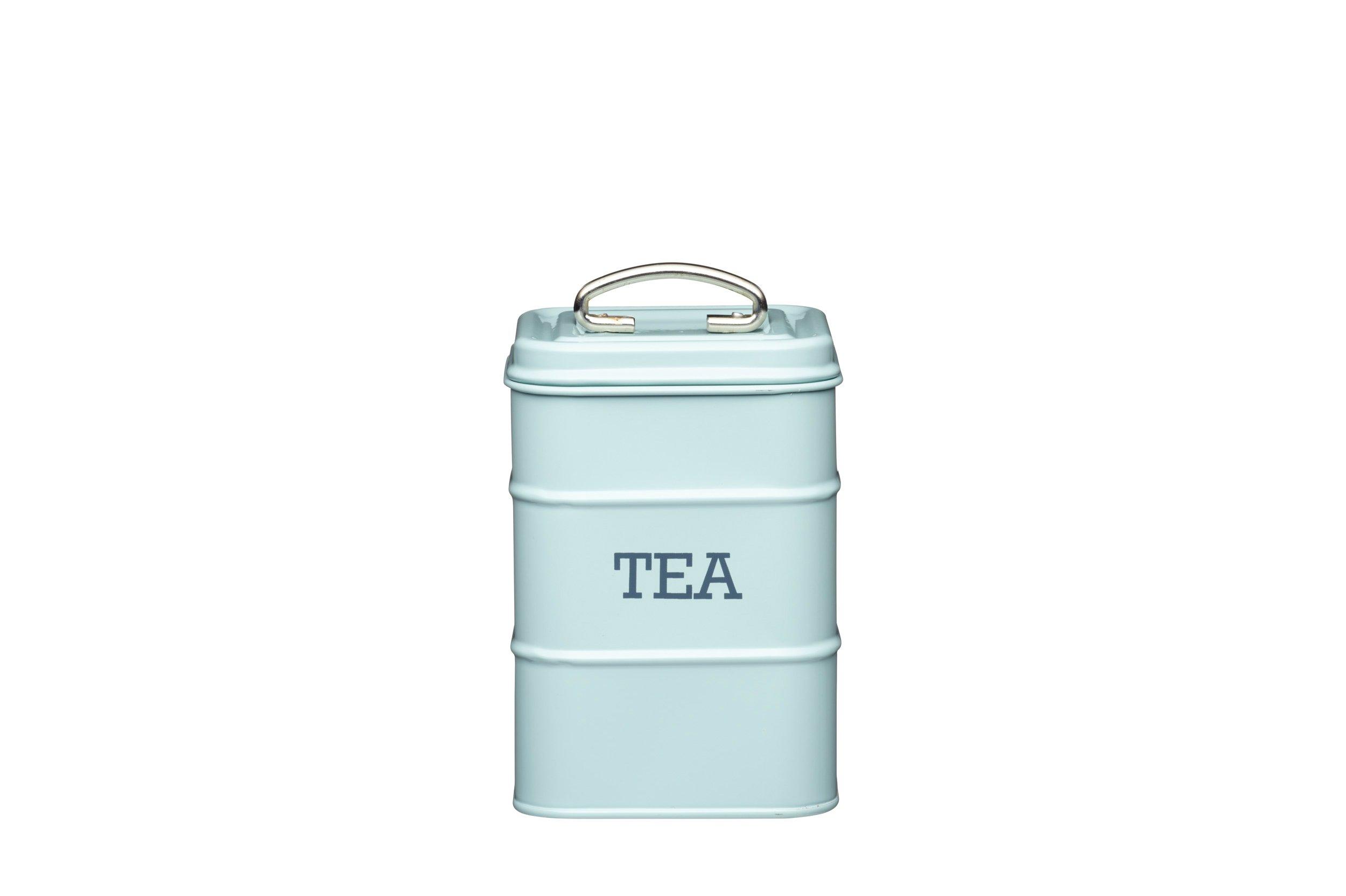 Living Nostalgia Tea Canister, 11x17cm, Blue, Tagged