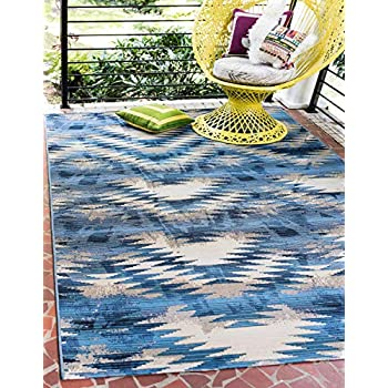 Amazon Com Unique Loom Outdoor Modern Collection Abstract