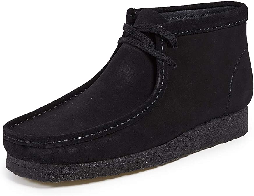 Wallabee Boot, Black Suede, 8.5 M