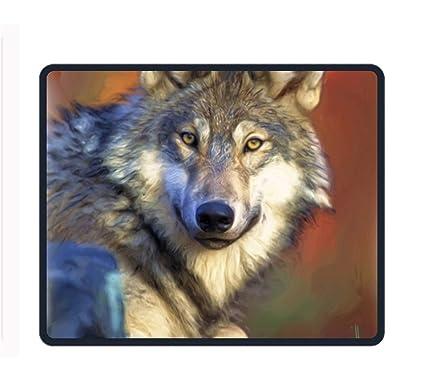 amazon com pretty wolf mouse pad customized rectangle non slip