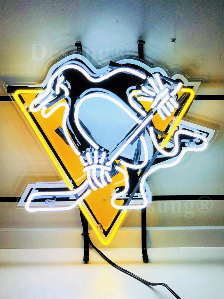 Desung 20''x16'' Pittsburgh Sports Team Penguin Neon Sign Light (MultipleSizes) HD Vivid Printing Tech Handmade Man Cave Beer Bar Pub Lamp VD35