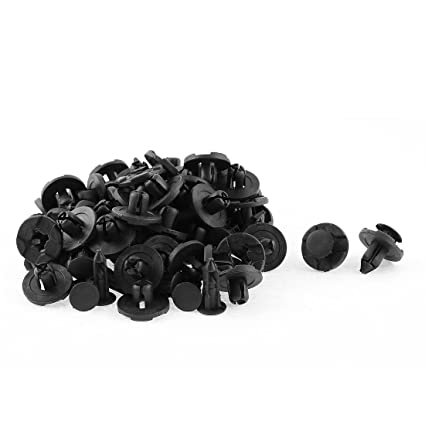 50Pcs Clip Remaches de Plástico Negro Guardabarros Molde