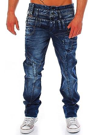 Cipo   Baxx jean pour homme coupe   cut triple ceinture  Amazon.fr   Vêtements et accessoires 85c27b27976