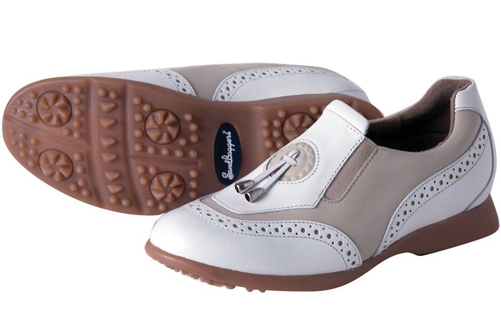 Sandbaggers Madison II Women's Golf Shoes (Almond, 7 1/2)