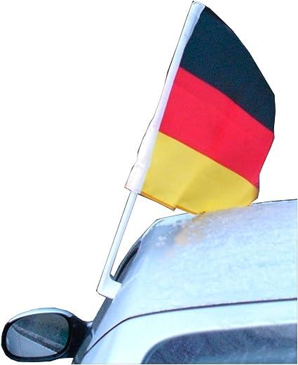 Beco Deutschlandfahne Auto Autofahne 45 X 30 Cm Wm 2018 Fanartikel Deutschland Flagge Für Autoscheibe Autokorso Autofahne Nationalmannschaft Sport Freizeit