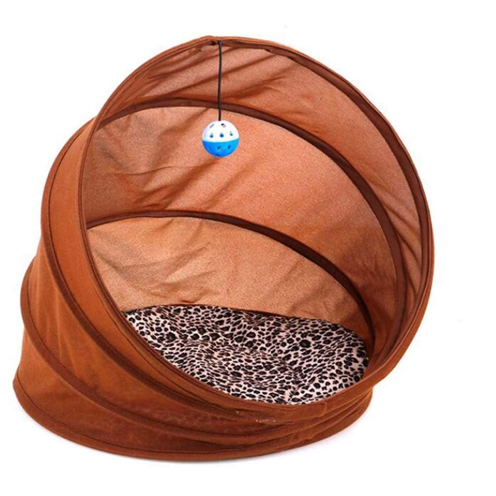 Collapsible Pet Tunnel Cat Litter Cat Litter Pet Nest Universal Tunnel Four Seasons Kennel Multi-Function Dog Foldable Outdoor Camping Summer Translucent Cave Bed