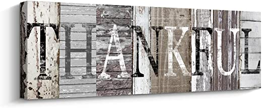 "GRATEFUL Sign Rustic Home Decor 5.5/""x17/"" Wood Sign Inspirational Wall Decor"