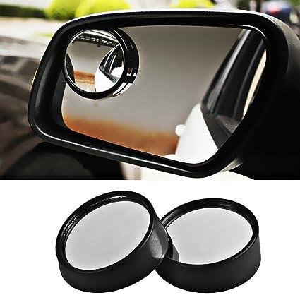 Espejos convexos de punto ciego para vehículos,Ajustable con Forma Convexa 360 ° Girar para
